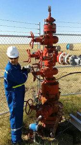 Injection wellhead at Field Research Station.
